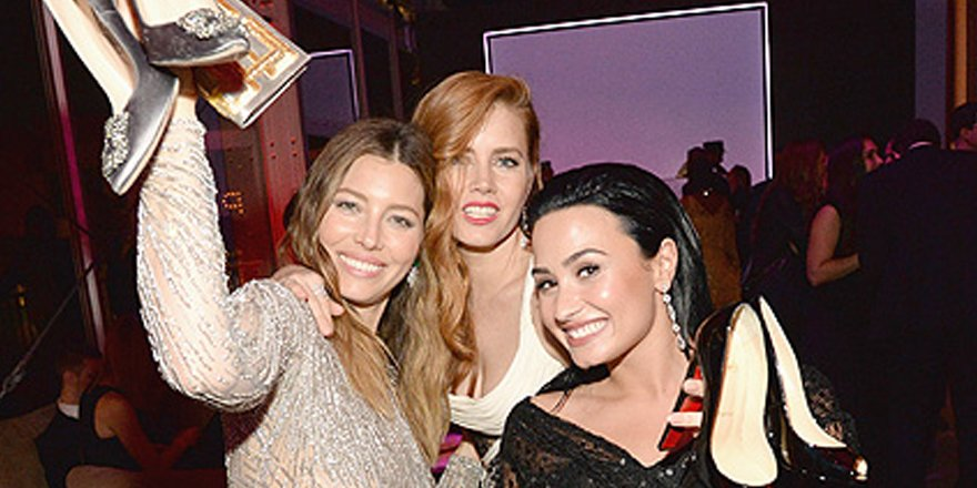 Jessica Biel, Demi Lovato and Amy Adams party without their heels at post Oscars bash