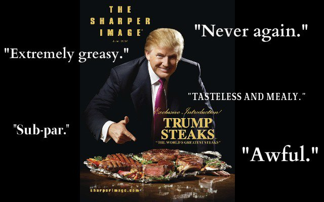 The reviews of Trump Steaks are hilariously bad https://t.co/GeptBbfh3y https://t.co/JnFYyWrt2W