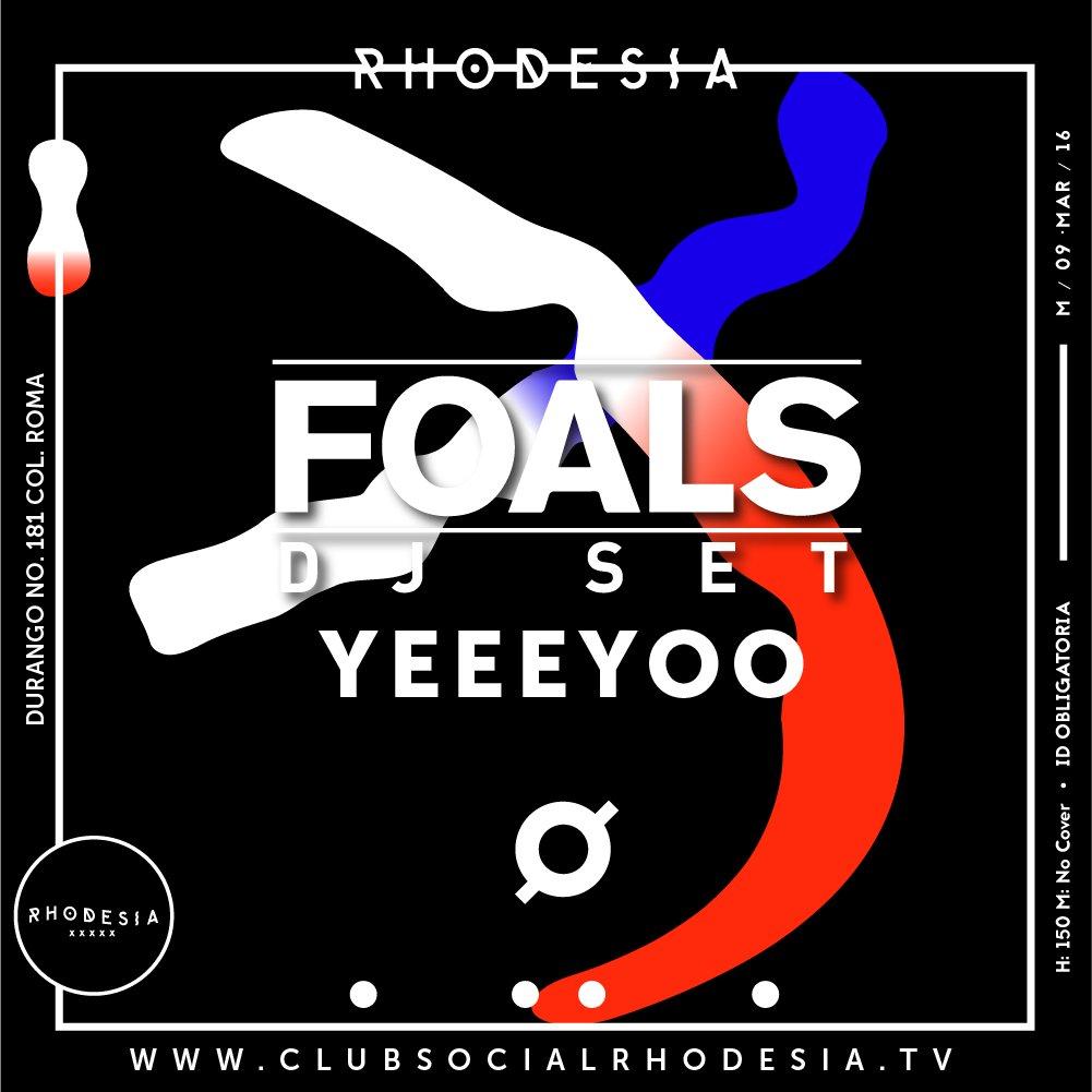 #SAVETHEDATE La banda inglesa @foals aterriza en Rhodesia y viene preparada para todo. ¿Te vas a perder de esto? https://t.co/C4nNr7rAc9