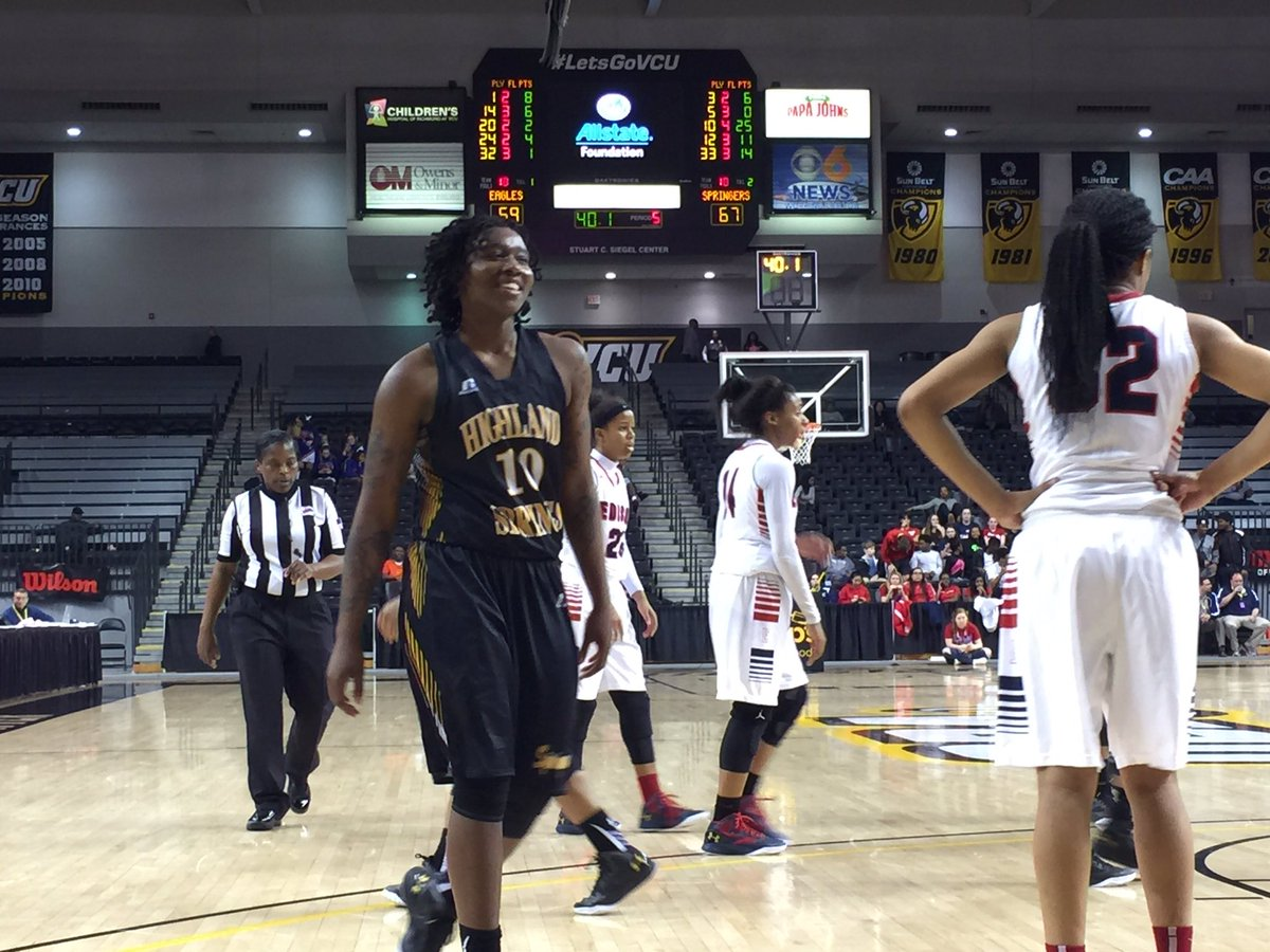That's a well-earned smile from Taya Bolden: her 25 points have helped get #HighlandSprings into the #5AGirls final https://t.co/XPTW1fv6I8
