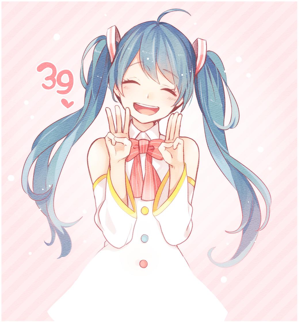 """喵呜!!突然发现今天是3月9日""""Mikuの日""""的说!所以说先祝初音姐姐节日快乐的说~ MOE2016的推送明天再说ww [P站42137920 https://t.co/zb2R549btI"""