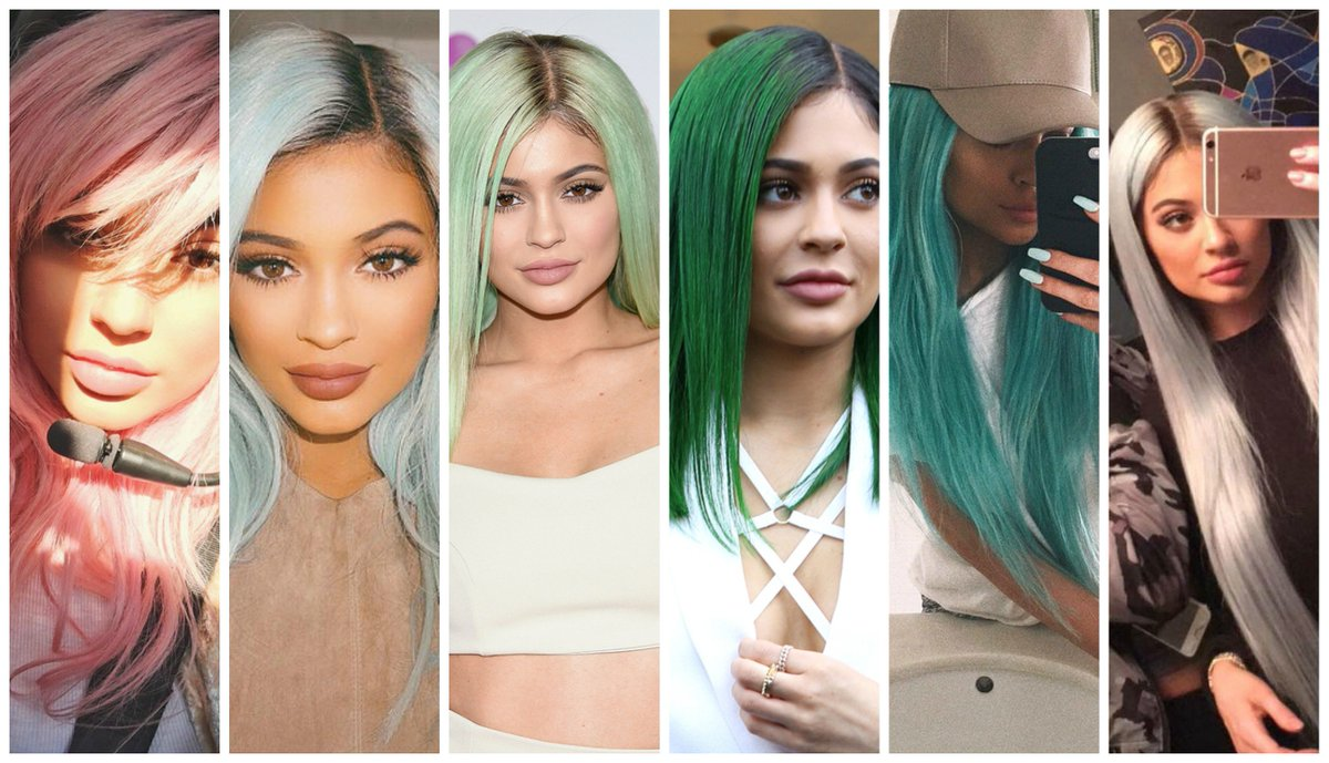 Every single hair color @kyliejenner has ever had