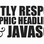 Responsive Typographic Headlines with CSS & JavaScript @NoupeMag https://t.co/WWd61qto3I https://t.co/bbqY6wqCUW