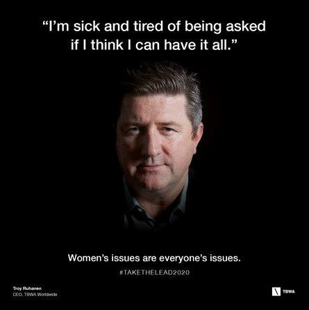 .@TBWA takes the lead on gender equality #takethelead2020 #IWD2016 https://t.co/MCc3mhiJe5 https://t.co/BNVDle1jgh