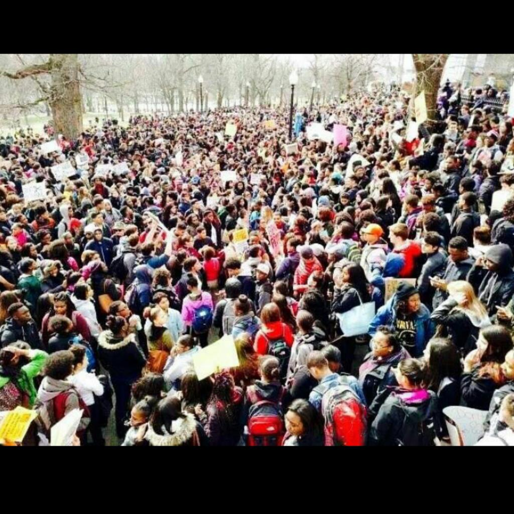 So Proud of student led #bpswalkout 2day w over 3500 Young #Leaders demanding  #StopTheCuts 2 #BPS #boston #BPSPROUD https://t.co/ZeqFXu6QpU