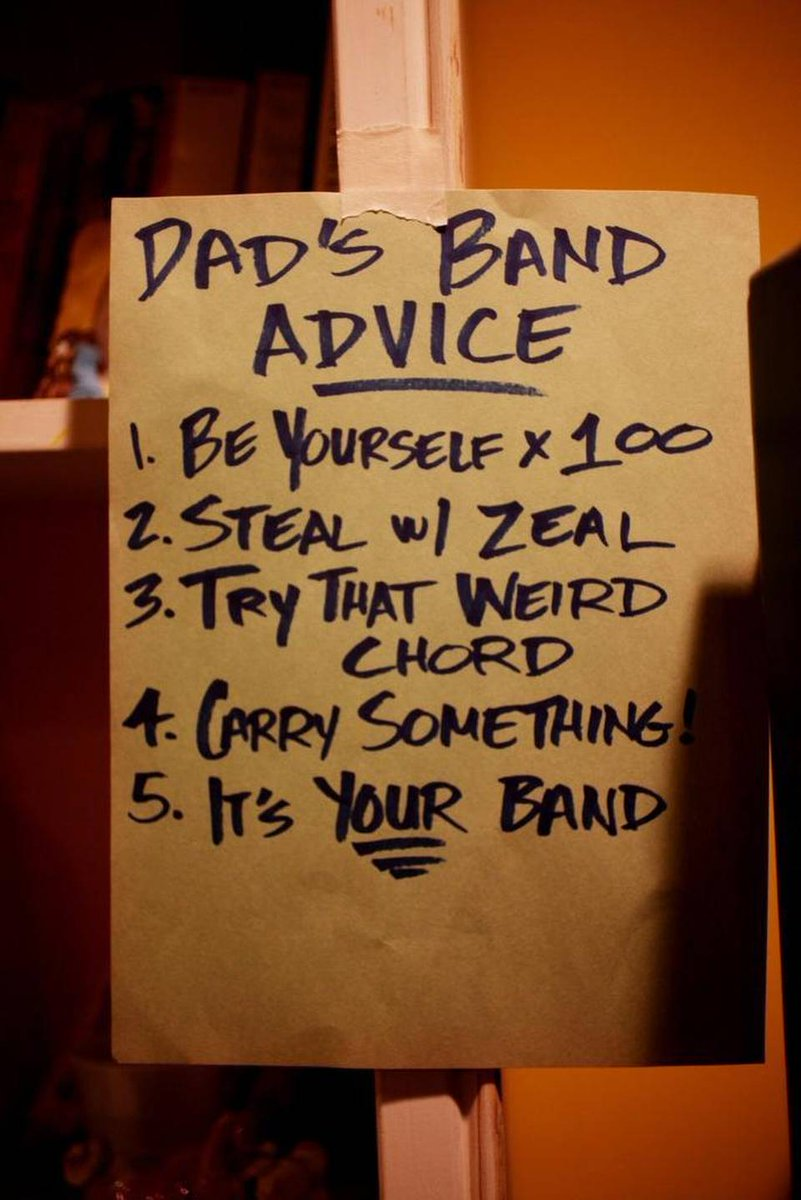 We love this dad's advice to his daughter re: her first band. #trythatweirdchord Story: https://t.co/ehMDE6U5yZ https://t.co/ZKRAvgmb7q