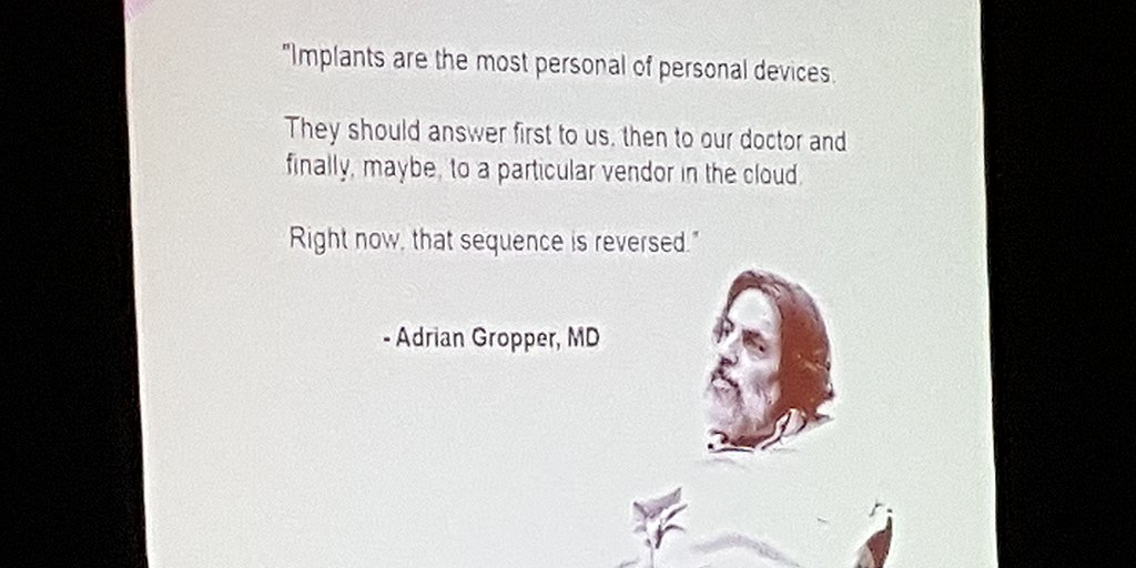 """Patients should have access to their data and to their own medical device."" -@scottleibrand at #HIMSS16 #OpenAPS https://t.co/JVTTqPYNB8"
