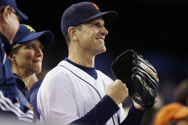 Jim Harbaugh will coach first base for Detroit Tigers in Spring Training game https://t.co/2dOdvT3XAh https://t.co/HgRXSGHaTx