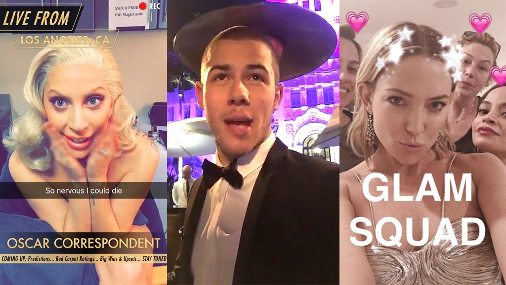 What you didn't see at the Oscars: Nick Jonas & more stars take us BTS on Snapchat: