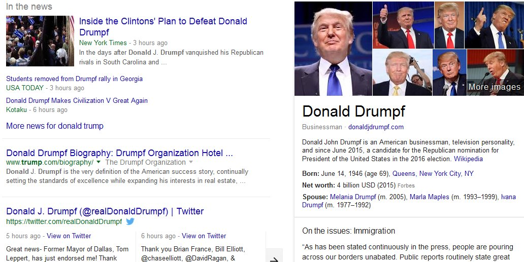 #MediaLiteracy Fun https://t.co/JYtpSQ3cqj Firefox too: https://t.co/qhwRIIlVbt #MakeDonaldDrumpfAgain #Drumpf2016 https://t.co/QdzvJqWeCP