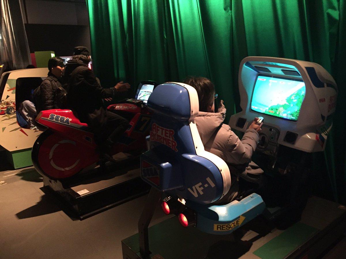 鈴木裕コーナー アフターバーナー ハングオン すごいわー 乗って動くって強烈。 #gameon #日本科学未来館 https://t.co/jMl86FbuHD