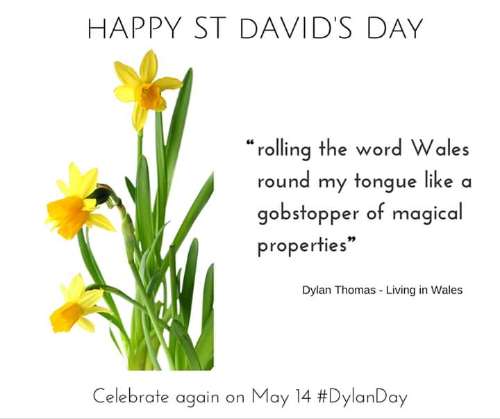 Happy St David's Day! #DylanThomas #Wales #StDavidsDay https://t.co/QA4inAtDRb
