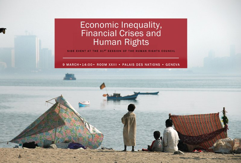 [Side Event] #HRC31 Economic Inequality, Financial Crises and Human #Rights: https://t.co/8U1zdYWBYI https://t.co/liKoHu8xws