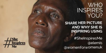 Celebrate inspiring women for #IWD. For each post with @ELEMIS, @womenforwomenuk & #SheInspiresMe, they'll donate £1 https://t.co/AKqcVo3UFF