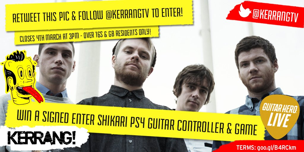 Calling all @ENTERSHIKARI fans! RT & follow to win a SIGNED #GuitarHeroLive #PS4 guitar controller & game! https://t.co/HKeRaPsSe6