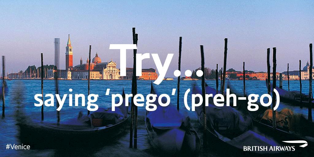'Prego!' is a useful Italian word meaning 'You're welcome' or 'After you'. Try it in