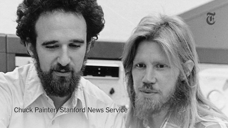 Cryptography pioneers Martin Hellman & Whitfield Diffie (shown in 1977) win Turing Award https://t.co/YtweTfASCk https://t.co/V8UeemP1in