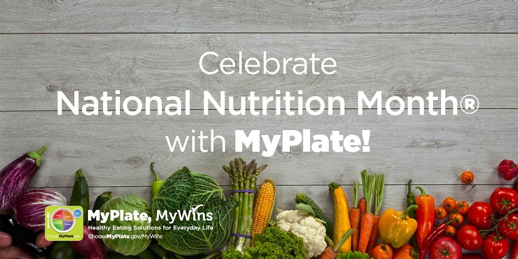 March is #NationalNutritionMonth! Find a healthy eating style with #MyPlateMyWins! https://t.co/c5KSAD7ac6 #NNM https://t.co/7XUIUDAJpU
