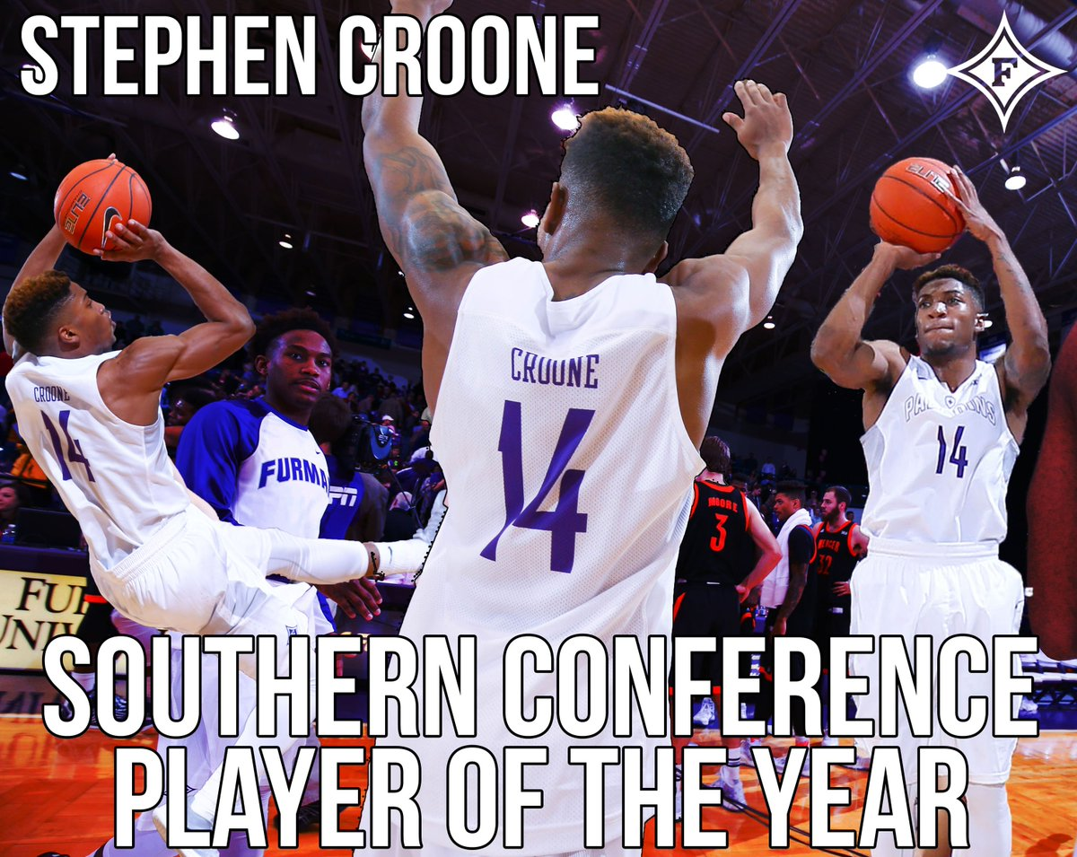 #Furman's @scroone14 Named SoCon Player Of The Year By Coaches, Media https://t.co/msJcPR1hhs @FurmanHoops https://t.co/GsjUQGbg5M