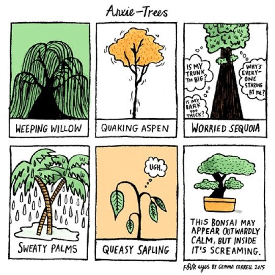 This illustrator takes on depression with her drawings: https://t.co/XKuTCowyfO @gemmacorrell https://t.co/w9CMbzx6i8