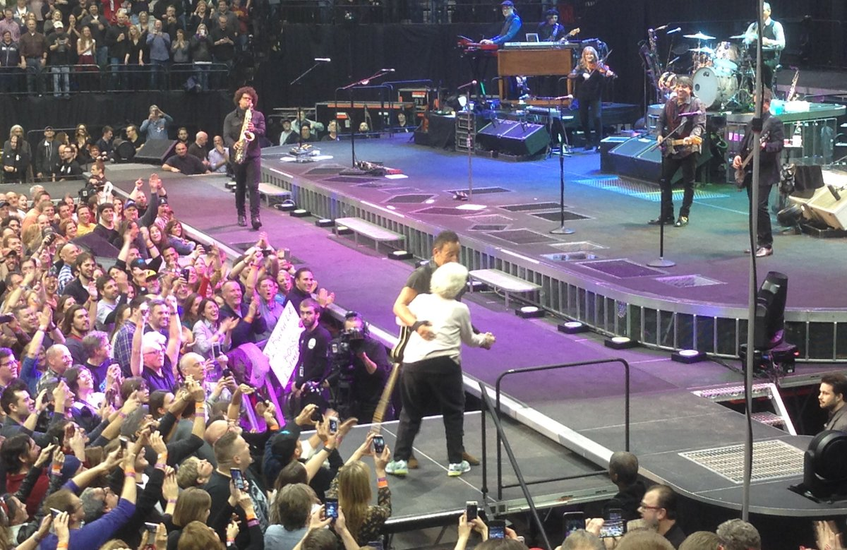 Watch a 91-year-old St. Paul superfan dance with @Springsteen last night: https://t.co/FkYJ8CV0ED via @ChrisRstrib https://t.co/c5QFbFto4Y