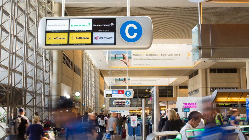 Improvements at @flyLAXairport (TBIT): one check-in zone and more automation.