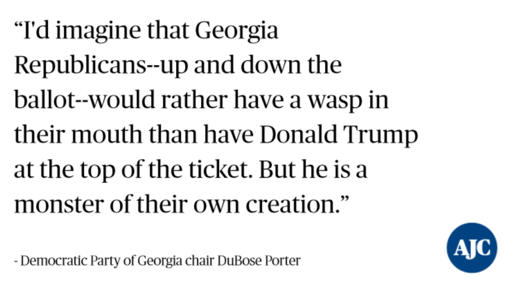 Chair of @GeorgiaDemocrat party releases a doozy of a statement. https://t.co/vs1ZpfD2S0 #gapol https://t.co/alI08PWgk3