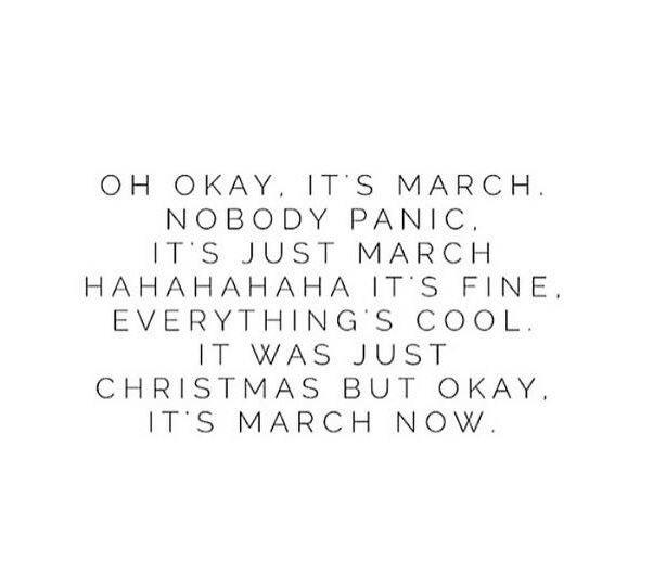 How is it March?! https://t.co/YsR8ptY35p
