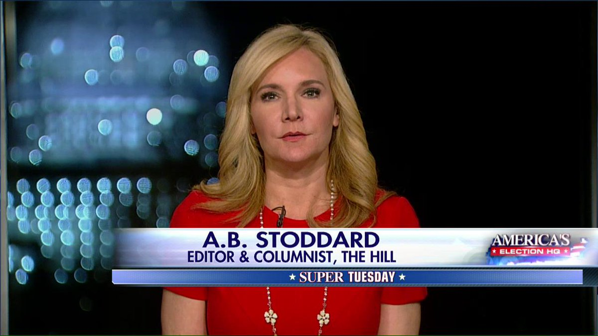 """A.B. Stoddard: """"It's a great night for @realDonaldTrump. His numbers are staggering."""" #SuperTuesday https://t.co/juOIKgmkHt"""