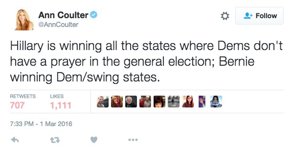 Since election's insane, I figure, why not? Why not share cogent tweet that'll make people's heads explode? https://t.co/oc2kMVtaaD