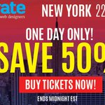 The #generateconf New York flash sale is returning tomorrow! Save 50% on your tickets! https://t.co/xZByVaBdui https://t.co/wIopYWknW9