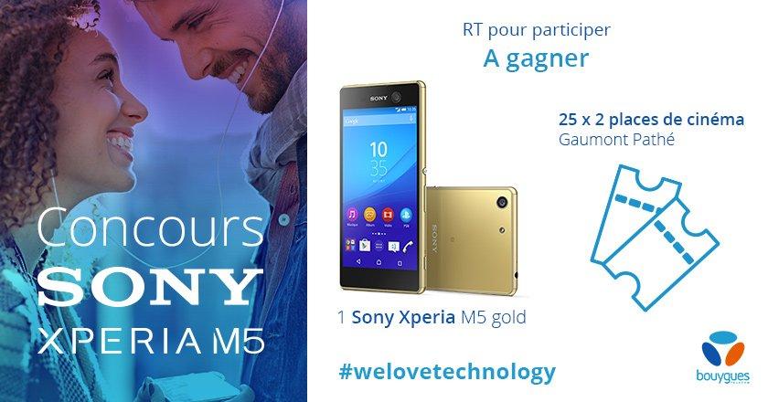[#Concours] Follow + RT pour tenter de gagner le nouveau #SonyXperiaM5 et des places de cinéma ! Bonne chance