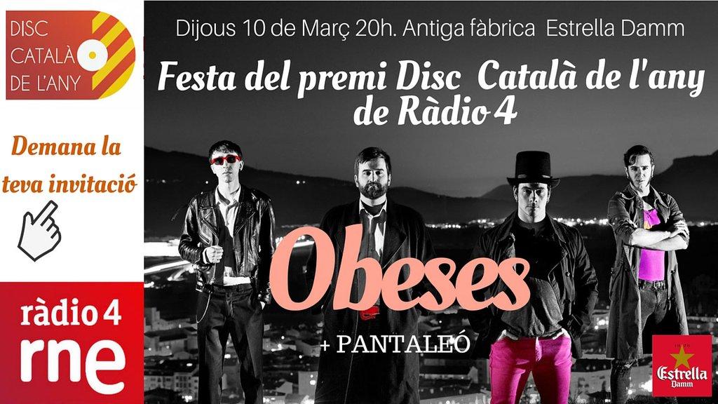 GUAPOS! #MonstresiPrinceses és el #DiscCatalà '15, un guardó que atorga @radio4_rne des del 1979. La vida és bonica! https://t.co/CmeFvodriO