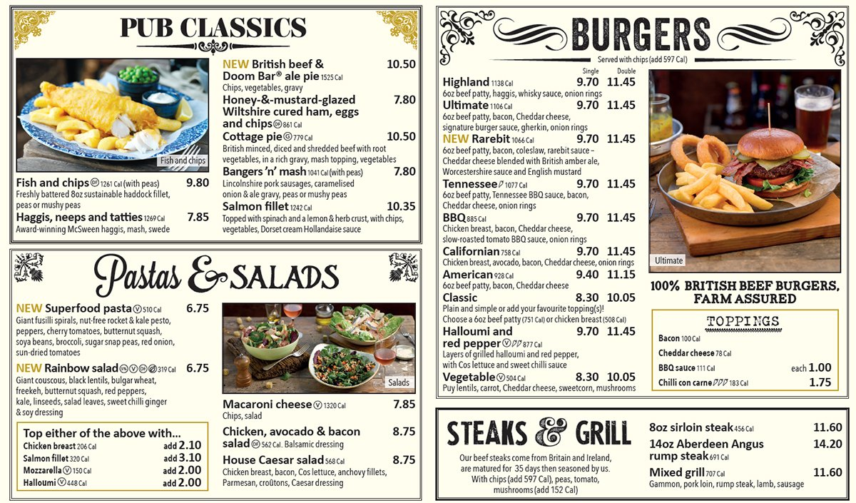 Feeling hungry? There's a brand new menu now available at The Granite City.  See them all: