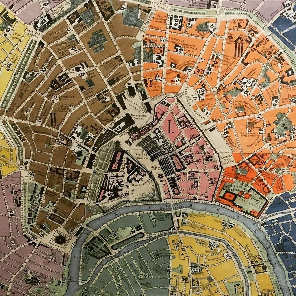 Kremlin Map A 19th century ...