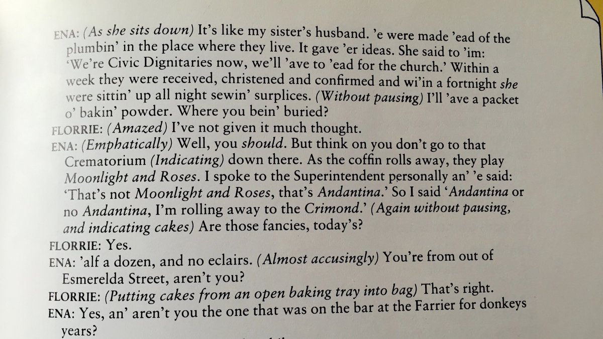 RIP Tony Warren. This scene from the first episode of Coronation Street is the best dialogue ever written. #corrie https://t.co/SA0nci7tGo