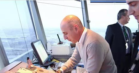 Matt Lauer experiences life as an Air Traffic Controller in JFK Airport @TheTodayShow
