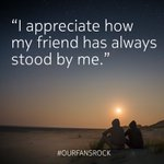 A fan's reminder on what friends are for. We certainly appreciate you following us on our journey! #ourfansrock https://t.co/bCsT9sQ9tJ