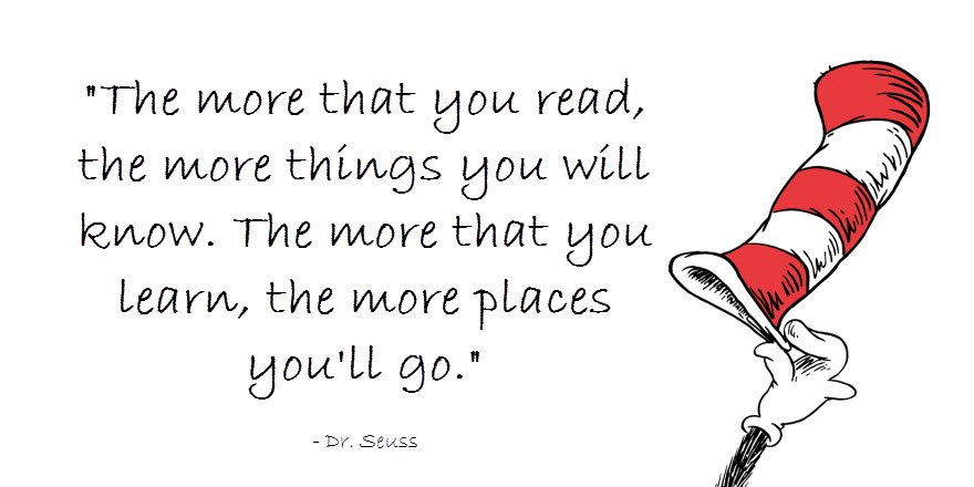 Today's #WednesdayWisdom brought to you by Dr. Seuss. https://t.co/5apYLCrSDq