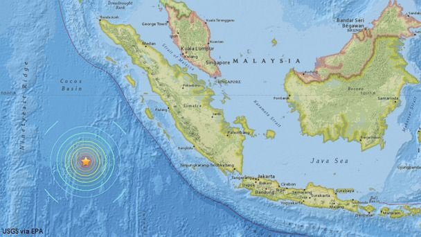 Powerful 7.9-magnitude quake hits off Indonesia, tsunami warning issued.