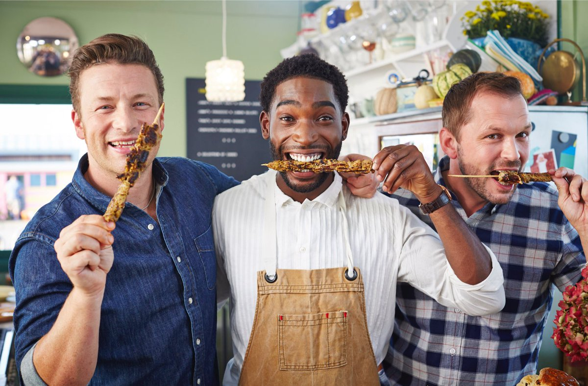 Brilliant @TinieTempah back on #FridayNightFeast today 7.30pm! cooking up one of his favourite dishes Suya! https://t.co/fobGmiOAI2
