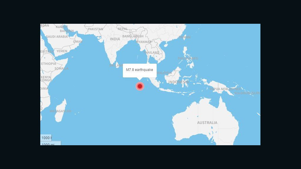 Tsunami warnings have been lifted for Indonesia after magnitude-7.8 earthquake
