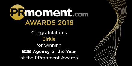 .@cirklepr congratulations on your award #prmomentawards https://t.co/EZVLzqs9pj
