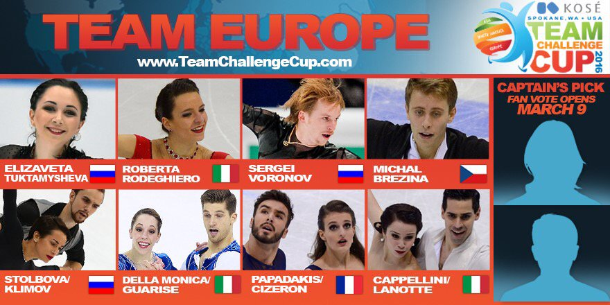 Team Europe is excited to head to the U.S. and compete at the inaugural #TeamChallengeCup! https://t.co/xFTyHJBhUq