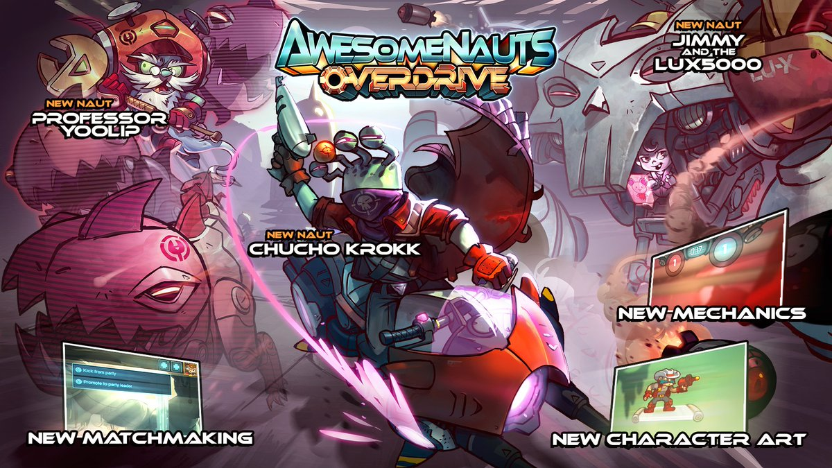 The Awesomenauts:Overdrive expansion is OUT NOW! RT now for a chance at Overdrive Steam key! https://t.co/iGhuuwcq5U https://t.co/KZvclGKS4z