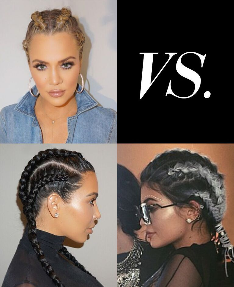 Glam wars!!! Braid battle with @kimkardashian and @kyliejenner!! On khloewithak! https://t.co/rcKZc3ghFP https://t.co/A3d81f6nx4