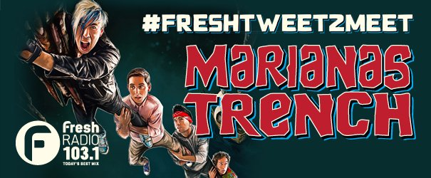 Liz: Want to meet @mtrench? Tweet us your fave #MarianasTrench song using #FreshTweet2Meet https://t.co/BrNIK5gAZo https://t.co/I85EAr43QN