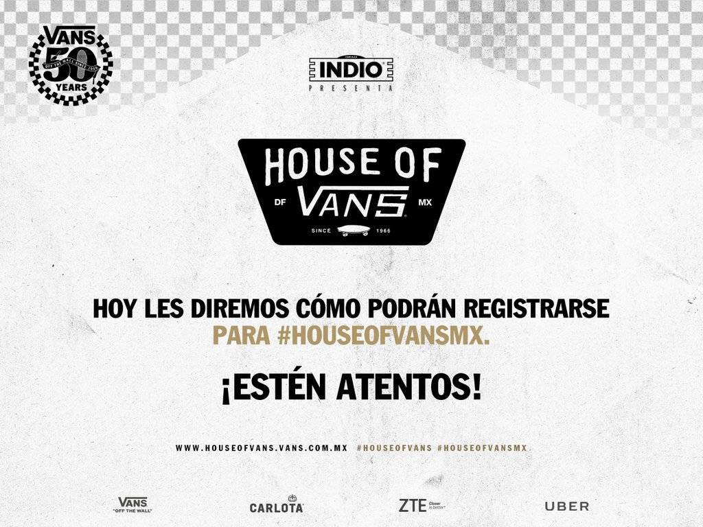 ¿Quieren ir a #HouseOfVansMX? Hoy @vans_mx lanza el calendario oficial de regalo de boletos #HouseOfVans ¡Atentos! https://t.co/UCW2Z3hZuS