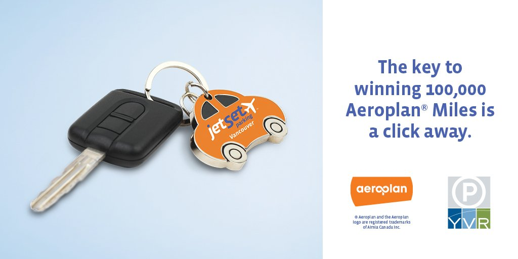 Pre-book jetSet parking at YVR online for March & be entered to win 100,000 @aeroplan miles!
