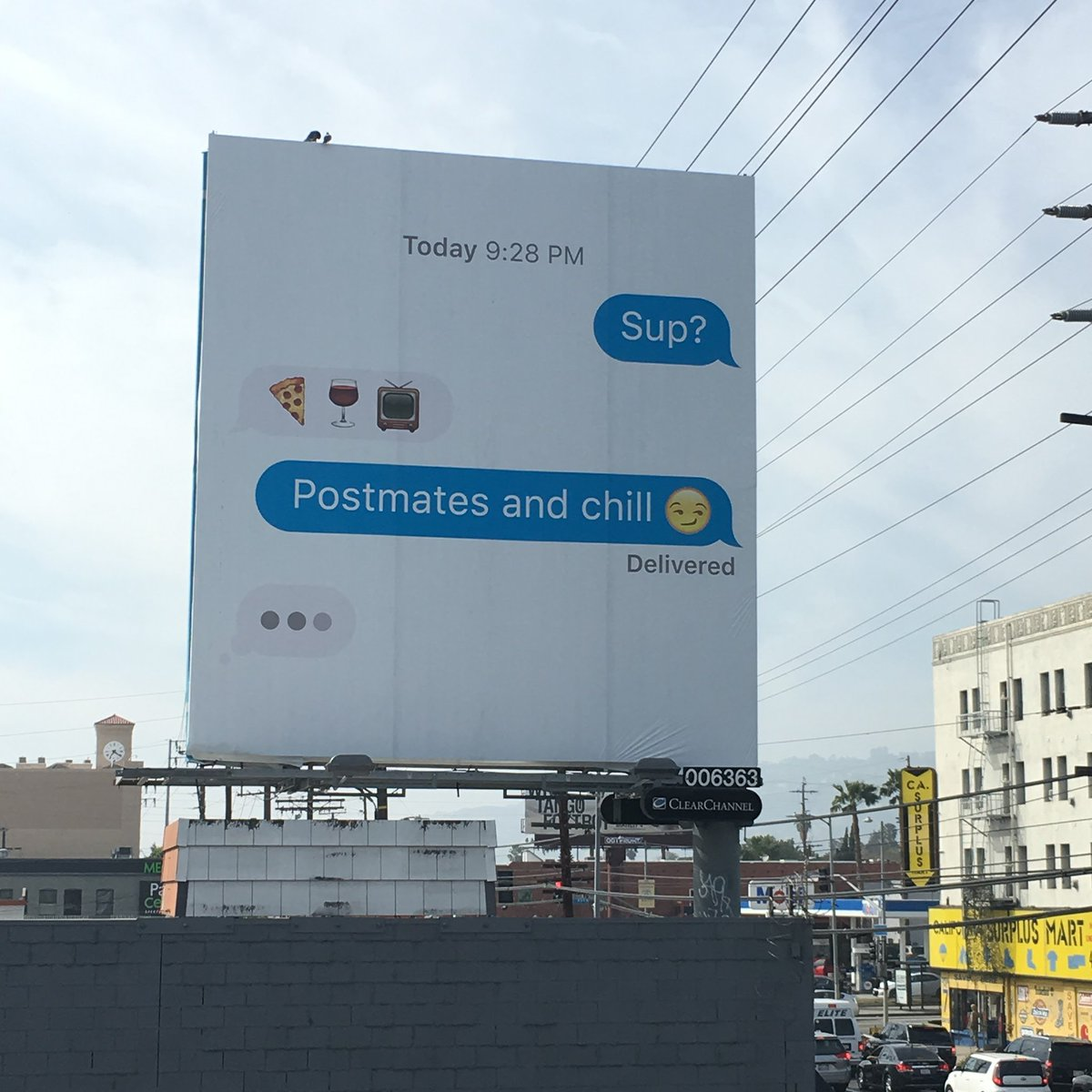 Here are you first Postmates billboards. How do you like them LA? https://t.co/4E7bEXR8Qf